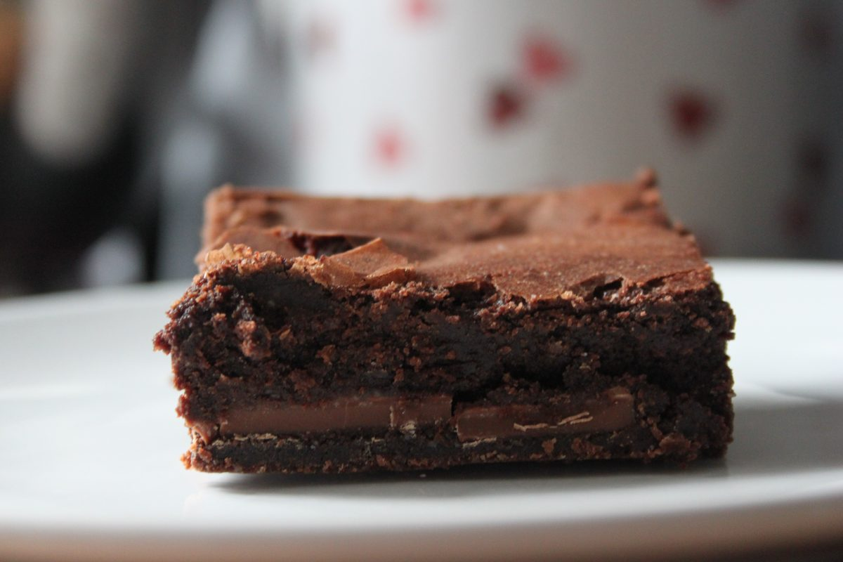 Our delicious ChocOrange Brownie containing Terry's Chocolate Orange