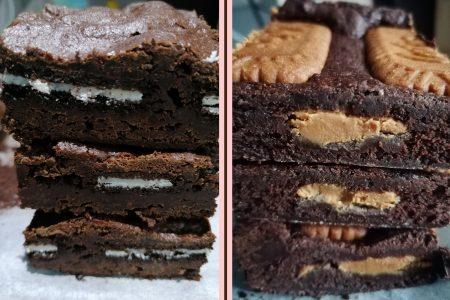 Vegan Half'n'Half brownies