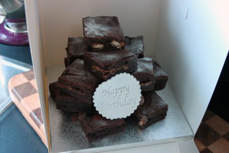 Brownie celebration stack